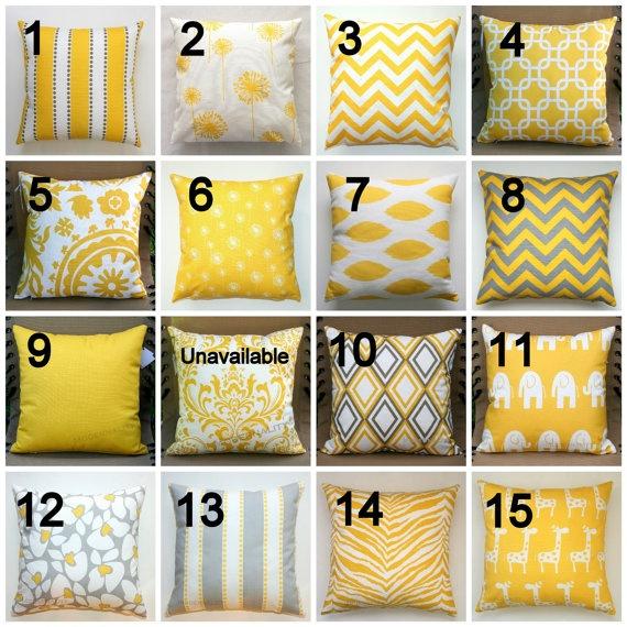 Premier Prints Yellow Lumbar Pillow Cover 12x16 or by Modernality2, $14.95