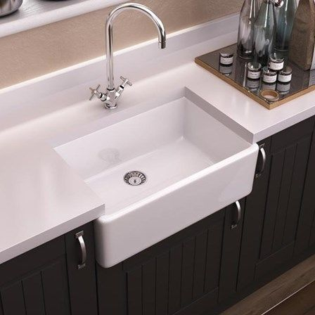 85 best ceramic kitchen sinks images on pinterest ceramic kitchen this beautiful traditional style vellamo westminster single bowl kitchen sink will made the perfect finishing workwithnaturefo