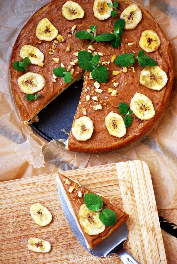 Kuchnia wegAnki: Bananowy tofurnik bez cukru