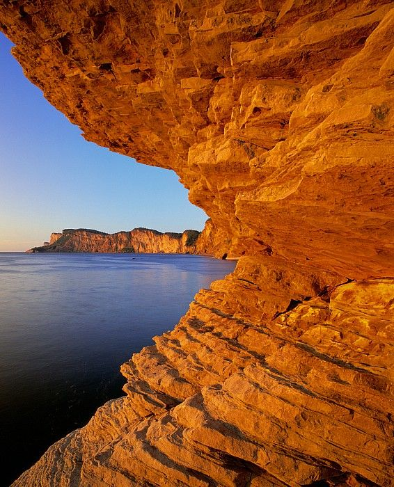 Cap Bon Ami, Forillon National Park, Gaspésie, Quebec, Canada; photo by .Yves Marcoux
