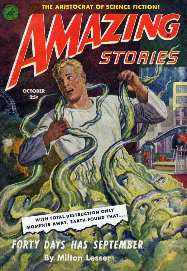 Amazing Stories Magazine - October 1951 #Pulp #Art #Cover #Vintage #SciFi #Horror