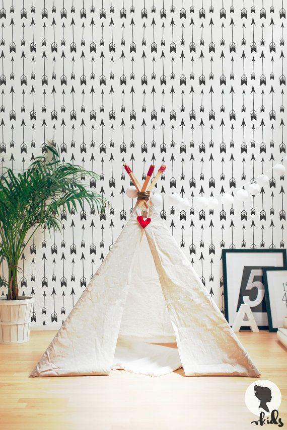 Arrow Wallpaper / Regular or Removable Wallpaper by LivettesKIDS