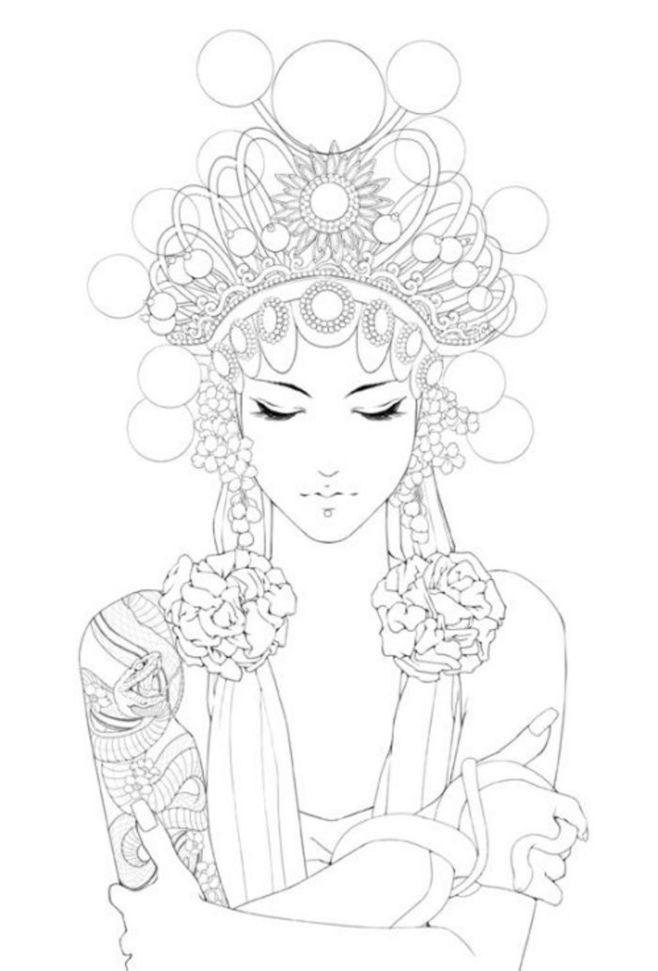 475 best Coloring pages to print - Woman images on ...