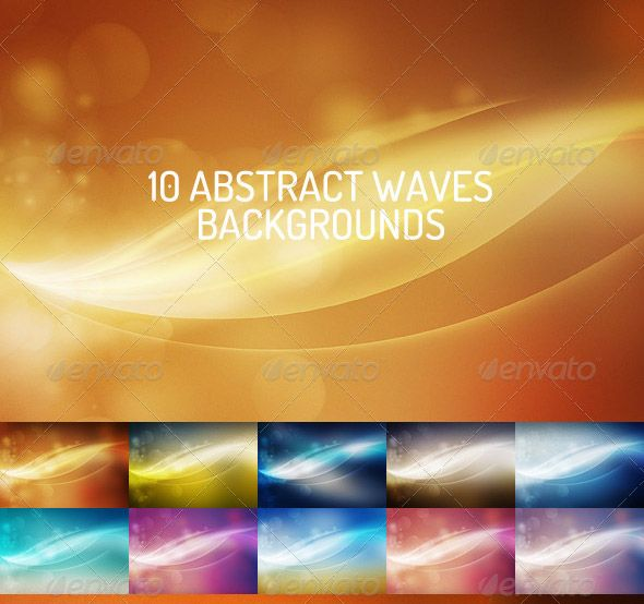 50 Abstract Waves Backgrounds Bundle