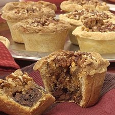 Caramel-Pecan Fudge Tarts – a bit of OJ tempers whole wheat's taste, without adding any orange flavor of its own.