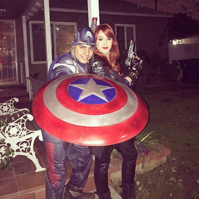 Pin for Later: 23 Kickass Comic-Book Costumes For Couples Captain America and Black Widow