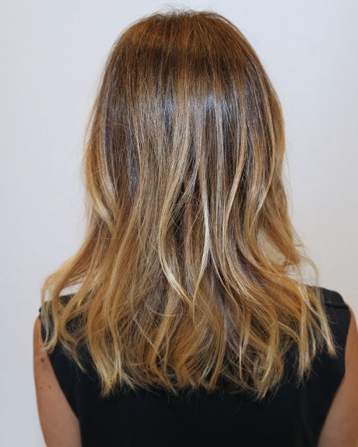 subtle ombre- this might be close to my hair color