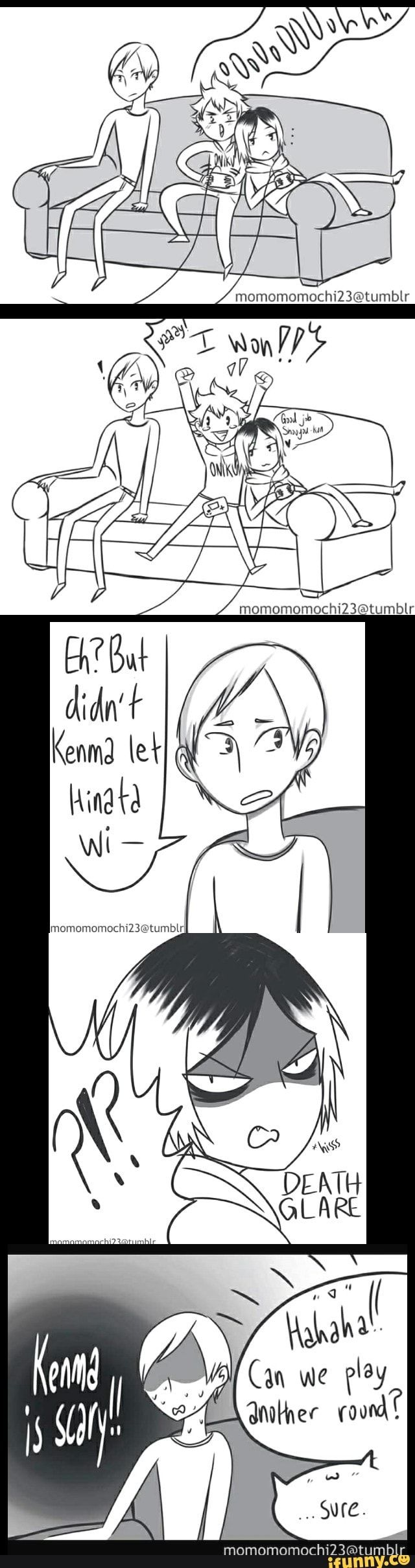 #haikyuu AW KENMA THOUGHTFULLY CARES ABOUT HINATA'S HAPPINESS