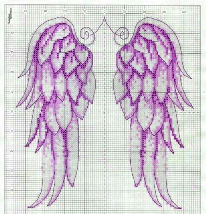Angel Wings Free Cross Stitch Pattern Chart