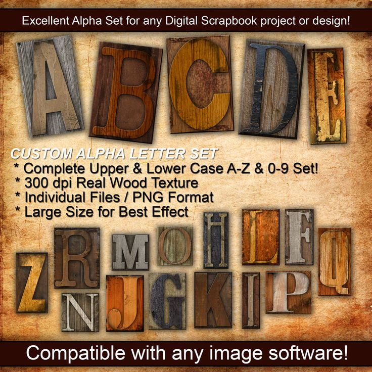 Divorce Letter Template Free%0A Wood Letter Press Custom Alpha Set by TheGraphicOutlet on