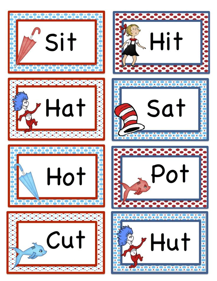 Preschool Printables: Seuss Rhyming Words Printable 2 ...