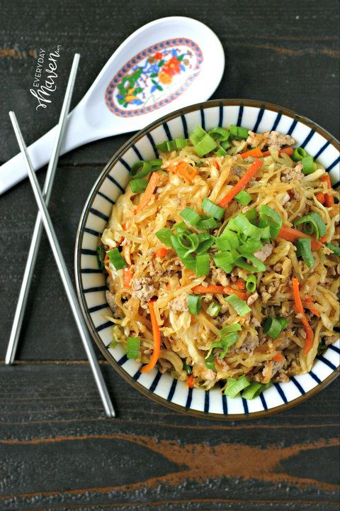 Satisfy your Chinese Egg Roll craving in minutes with this quick and easy one pot dinner that is low carb, gluten free and even soy free!