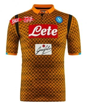 2018-19 Cheap Goalie Jersey Napoli Replica Orange Shirt  CFC746 ... 10c50586e