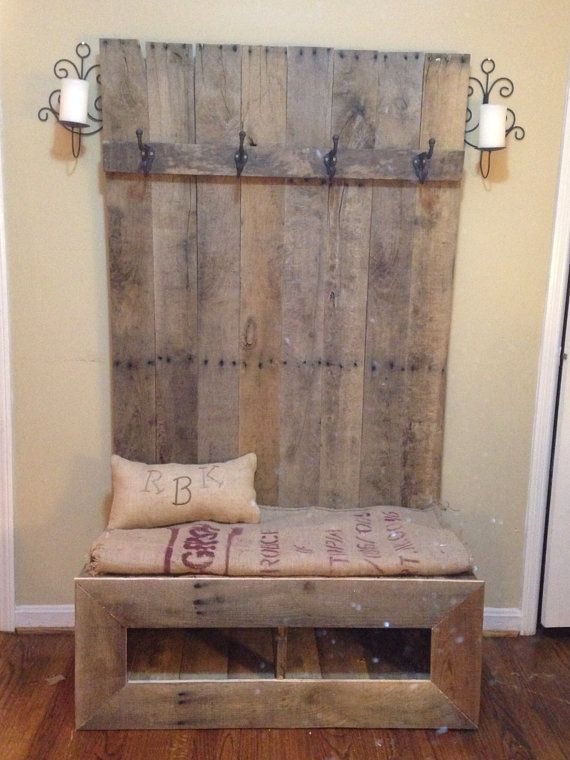 Palette Hall Tree by RebuiltKreations on Etsy, $300.00