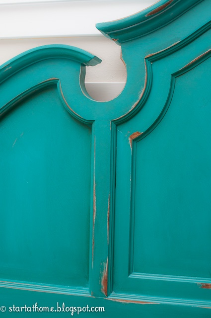 Turquoise Headboard...just in time for Christmas!