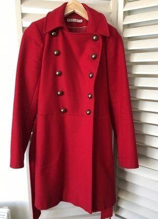 À vendre sur #vintedfrance ! http://www.vinted.fr/mode-femmes/manteaux-dhiver/25663944-manteau-dhiver-style-officier-rouge-kookai
