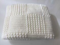 C comme... Couverture tuto crochet gratuit du modèle. Free crocheted blanket pattern (french)