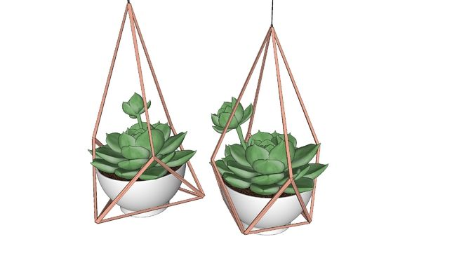 Large preview of 3D Model of PLANTINHAS EM VASINHOS SUSPENSOS