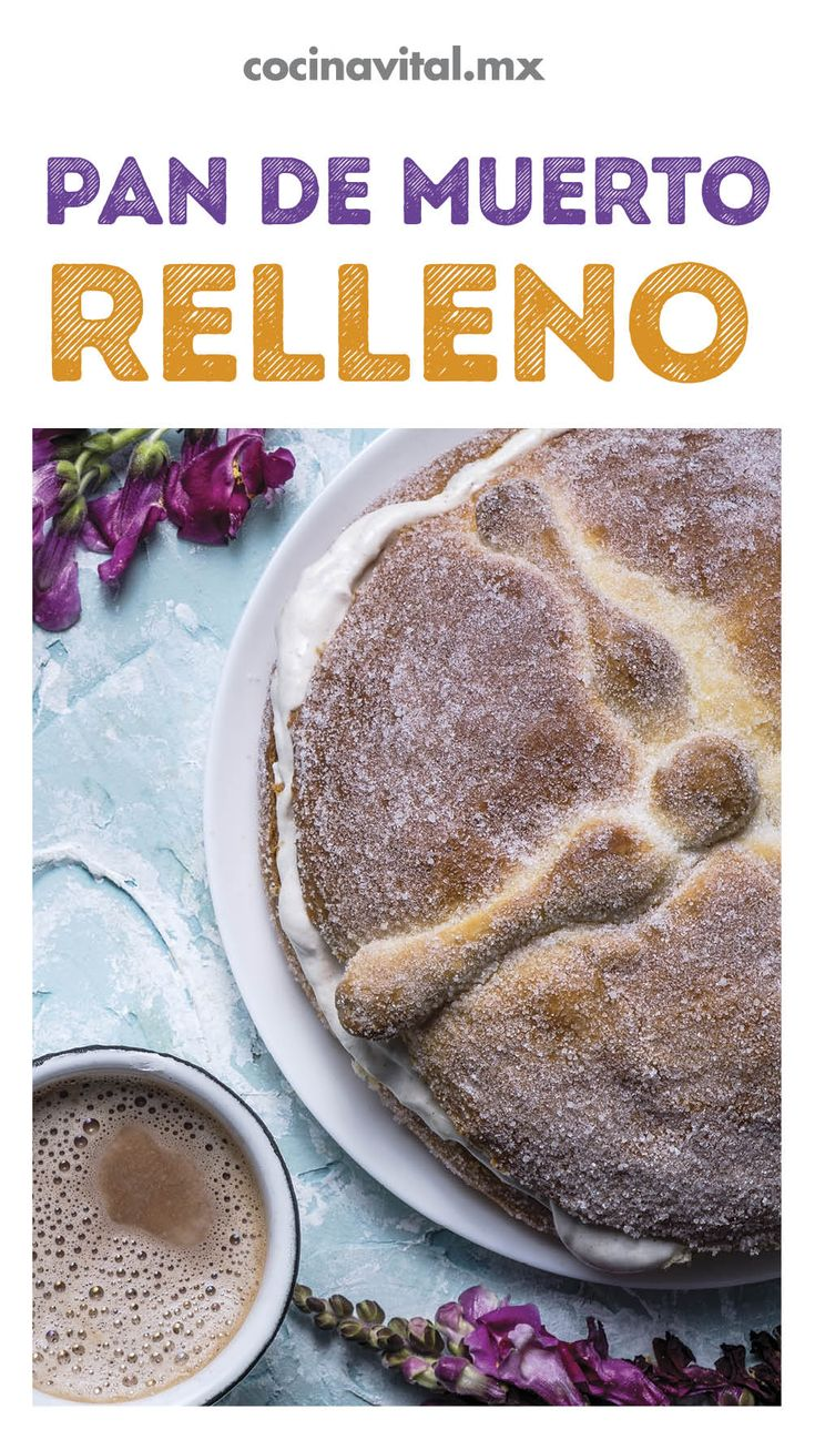 Prepara la receta tradicional de pan de muerto y dale un toque diferente con un relleno. Nosotros te decimos cómo hacerlo ¡es muy fácil! Mexican Sweet Breads, Pan Dulce, Bread Recipes, Cheesecake, Pudding, Sweets, Halloween, Ethnic Recipes, Desserts