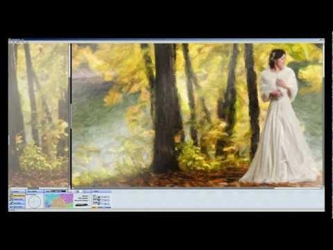 Обработка фотографии в фотошоп под масло