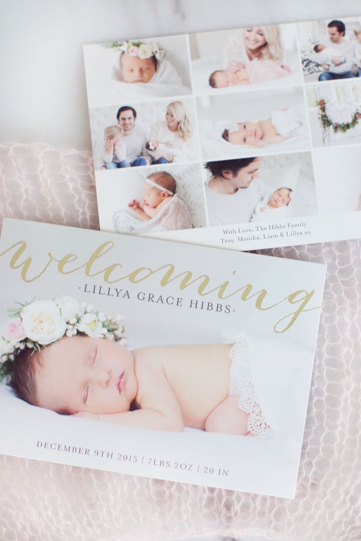 17 Best ideas about Baby Announcement Cards – How to Write a Birth Announcement