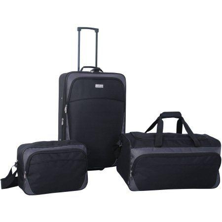 Protege 3-Piece Luggage Set, Black