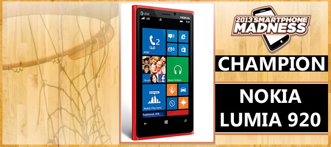 Nokia Lumia 920 Wins Smartphone Madness 2013. Glad i bought it rather than a samsung galaxy :D