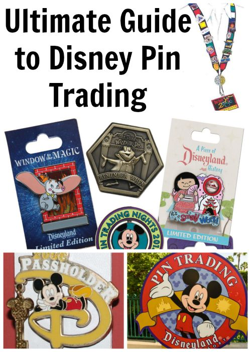 Complete guide to Disney pin trading - Overviews of how to trade & a large pin graphic