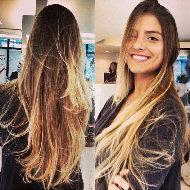 Cabelo \u2013 Ombré Hair (loira, morena e negra). 969127_552753404765781_2095658660_n