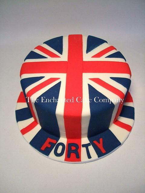 40th Birthday Union Flag Cake