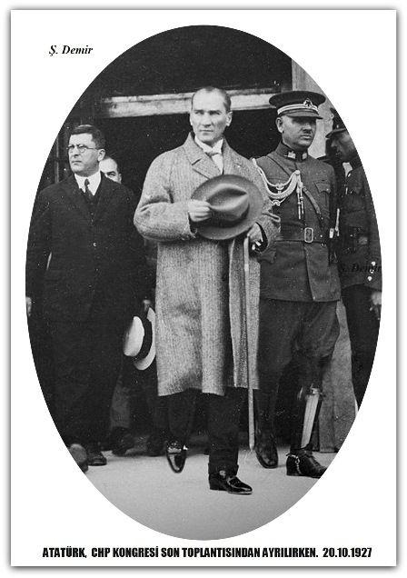 ATATÜRK CHP KONGRESİ SON TOPLANTISINDAN ÇIKARKEN. 20.10.1927