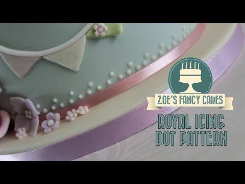 Allgemeine Kuchen dekorieren Tutorials # 19: Einfache und effektive königliche Zuckerglasur Punktmuster - CakesDecor