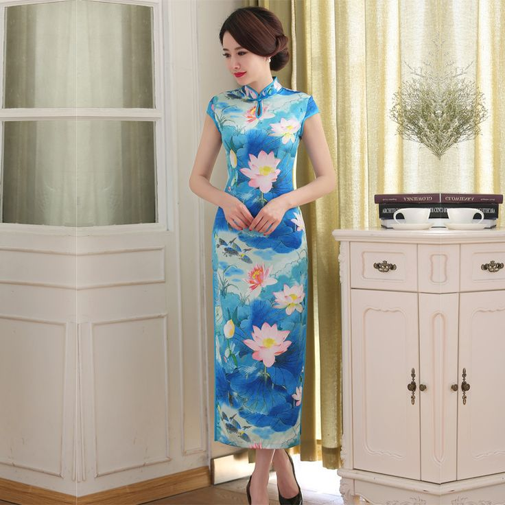 2017 Robe De Soiree Courte Top Fashion Spandex Chinese Dress The New Style Of Summer Long Cheongsam Wholesale Daily Skirt