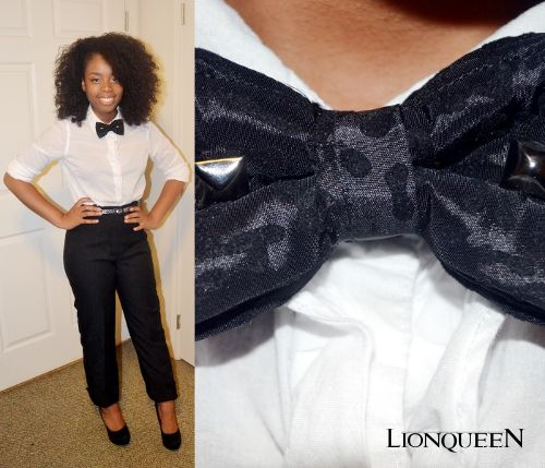 women's outfit with bow tie | By the way, I am a strong believer in girls in bow ties!