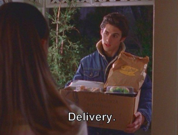 """How about when Jess made a special food delivery to Rory's house to make sure she was taken care of?   36 Times Jess Mariano Completely Melted Your Heart On """"Gilmore Girls"""""""