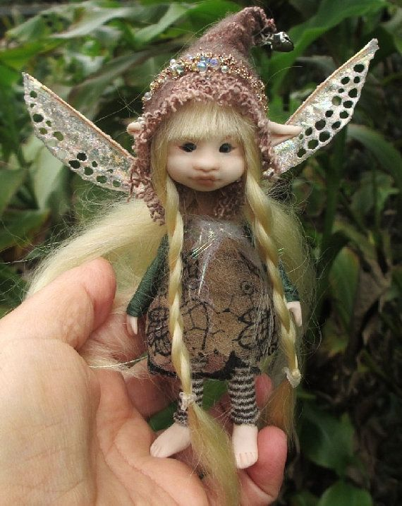 Sweet Tiny Ooak Posable 5 Inch Fairy Fairie