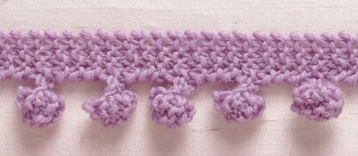 Knitting Edges And Borders : Bobble edging free pattern by lionbrand crochet