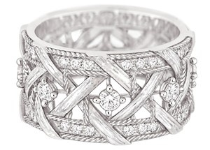 My Dior ring in white gold with diamonds