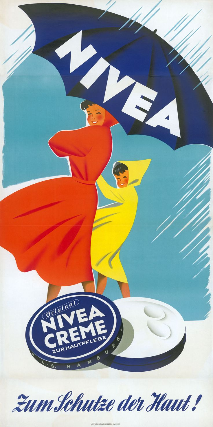 NIVEA Retroanzeige - 1954. #nivea #retro Love this ad. http://www.stgraphicstudio.com
