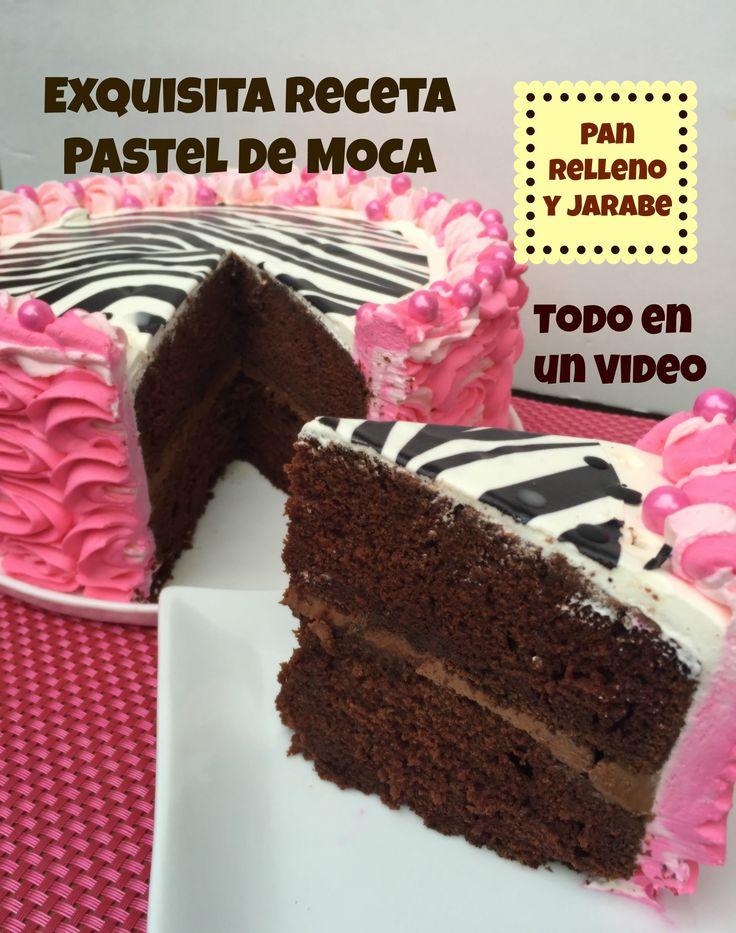 Receta Pastel De Moca Casero