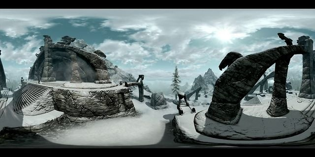 Skyrim 360° panoramic time lapse by Mindlight. Personal pet project: in-game panoramic time-lapse of Skyrim.