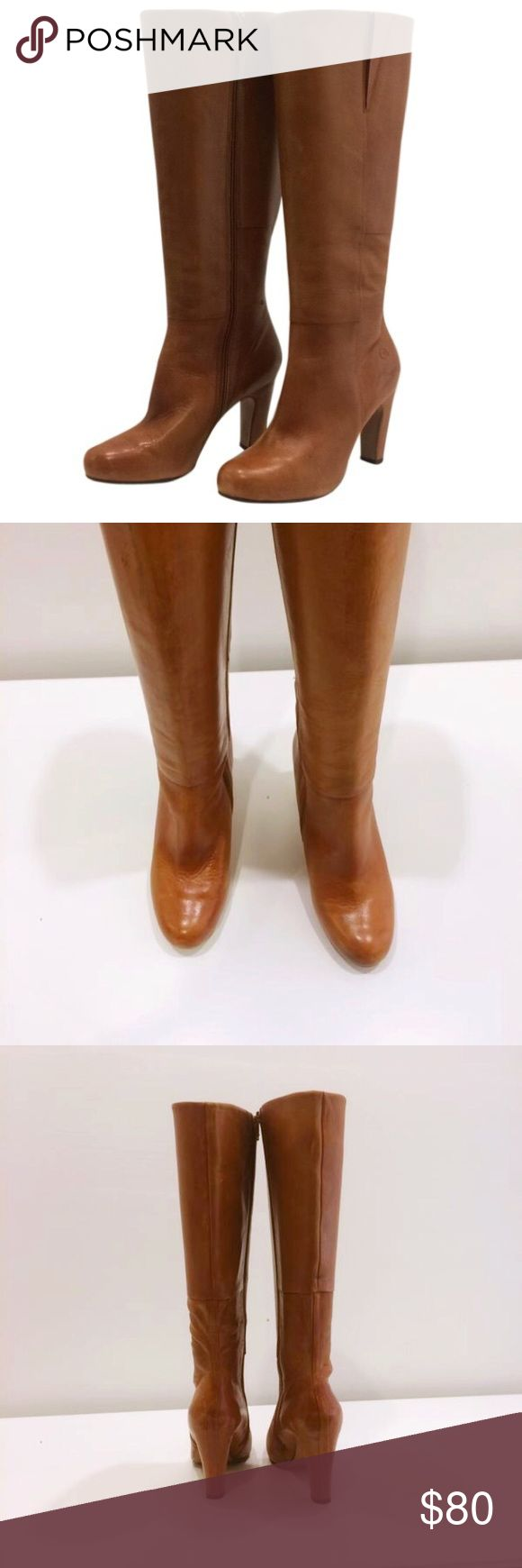 Bronx boots Brown boots with zipper on inside. Very minimal wear. There are a few minor scuff marks and one boot has a few marks from being stored with other boots (shown in photo) Nothing major and not noticeable when you wear them. Bronx Shoes Heeled Boots