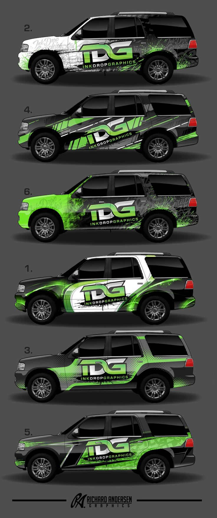 Car stickers advertising - Wrap Design By Richard Andersen Https Ragraphics Carbonmade Com