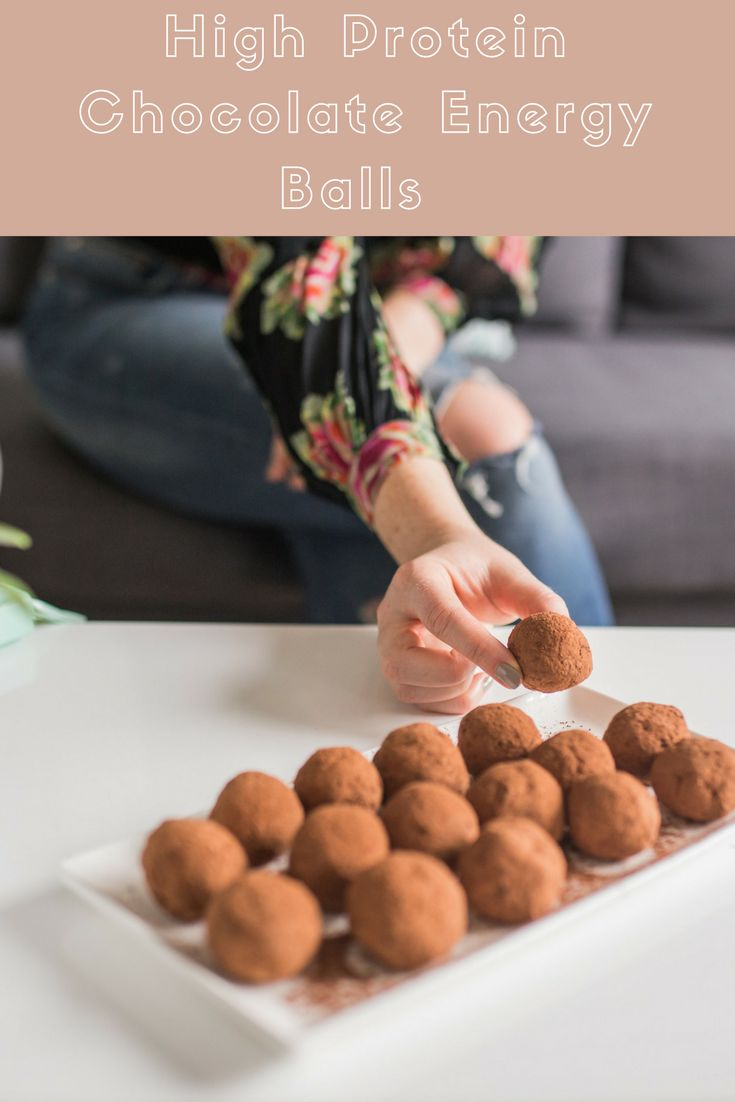 If you are looking for a quick and healthy snack, try my chocolate energy balls that are high protein, contain no refined sugar and take 15 minutes to make.