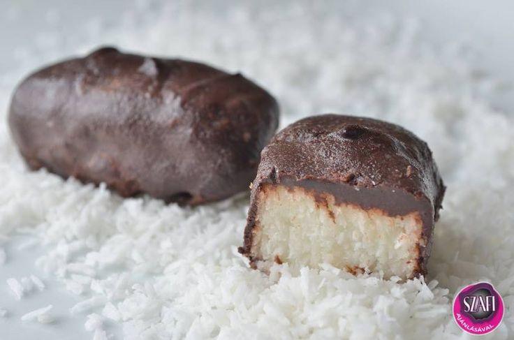 """Paleo-vegán, szénhidrátcsökkentett, bounty ízű csoki     Házi, """"mindenmentes"""" (tejmentes, tojásmentes, gluténmentes, hozzáadott cukormentes, szójamentes) bounty ízű csoki 3 összetevőből????????????   Paleo-Vegán szénhidrátcsökkentett BOUNTY ÍZŰ CSOKI RECEPT 1. 40 g Szafi Fitt Bounty ízű mi"""