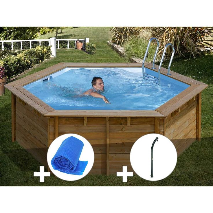 Kit Piscine Bois Sunbay Vanille First O 4 00 X 1 19 M Bache A