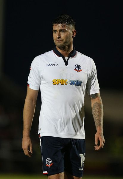 Gary Madine in action during the Sky Bet League One match between Northampton Town and Bolton Wanderers at Sixfields on November 26, 2016 in Northampton, England.