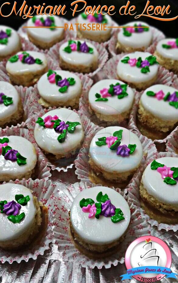 Petit four minitortitas decoradas
