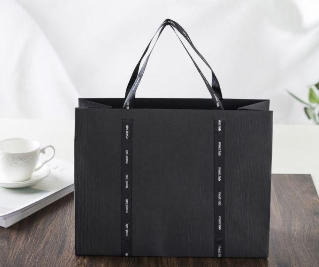 black craft paper bag, special paper bag, design shopping bag
