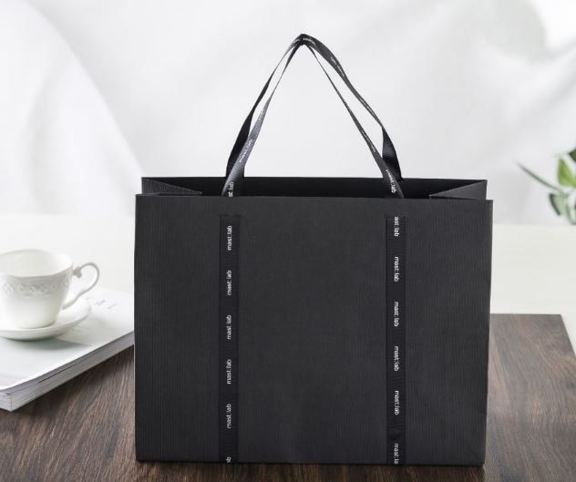 black craft paper bag, special paper bag, design shopping bag